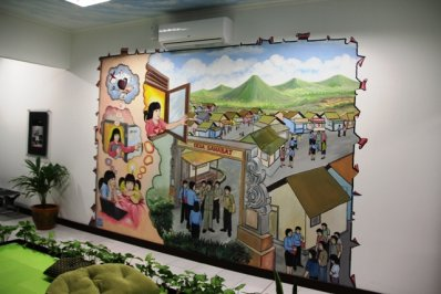 Office school imural for Mural indonesia