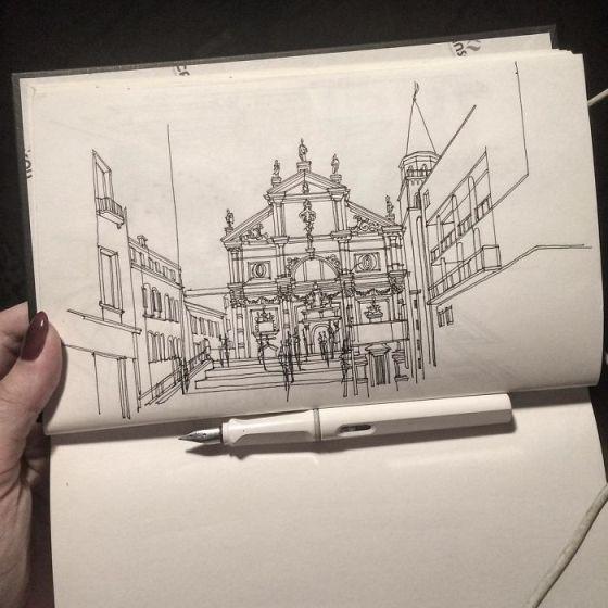 sketsa arsitektural 10