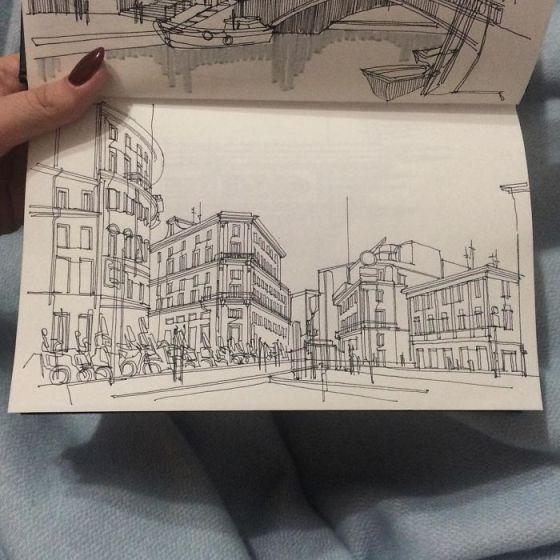 sketsa arsitektural 14