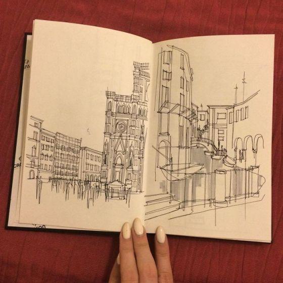 sketsa arsitektural 16