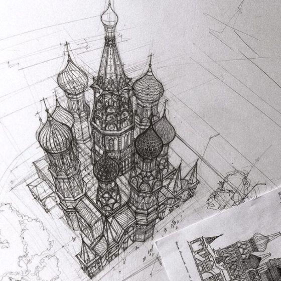 sketsa arsitektural 2