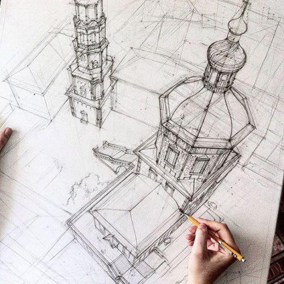 sketsa arsitektural 5