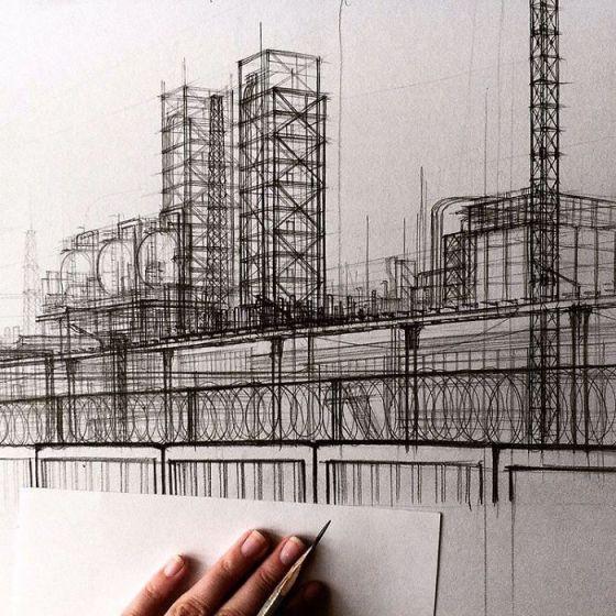 sketsa arsitektural 8